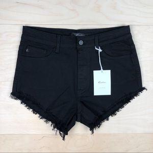 NWT KanCan Black Denim Cutoff Shorts